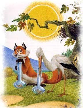 La favola della volpe e della cicogna